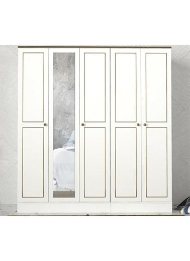 Dekorister Dekorister Exclusive Ravenna 4 Kapılı Gardırop Beyaz